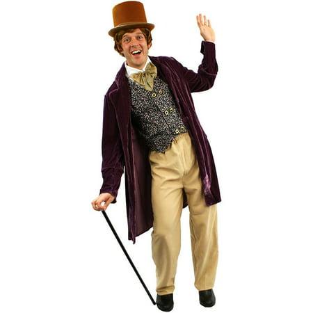 Adult Willy Wonka Costume (Willy Wonka Classic Chocolate Man Adult Costume,)