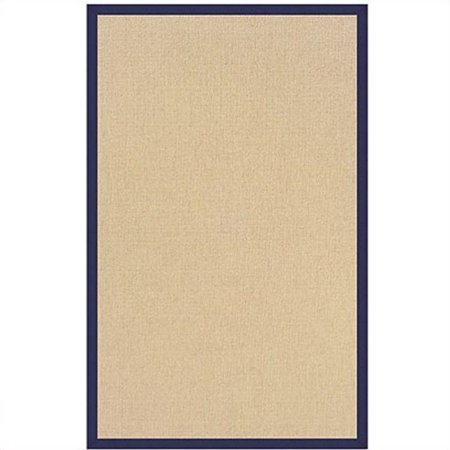 Linon Athena Cotton Rug in Sisal and Blue-1