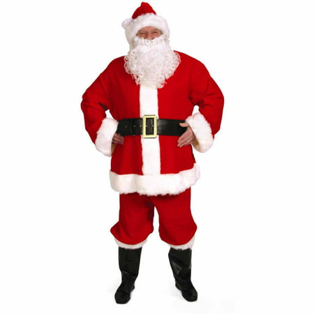 Complete Santa Suit Men's Adult Halloween Costume - Good Halloween Costume With Beard