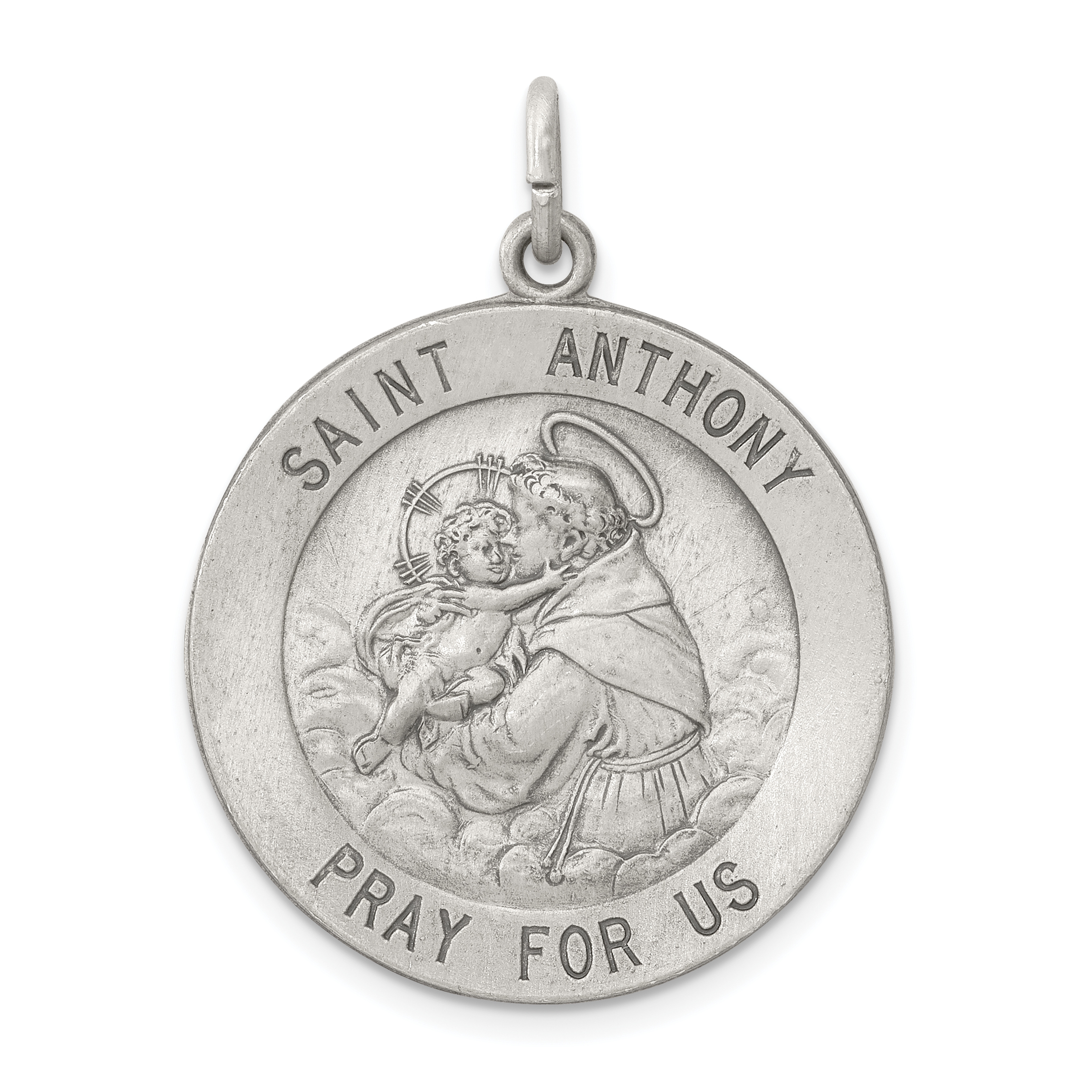 925 Sterling Silver Saint Anthony Medal Pendant Charm Necklace Religious Patron St Fine Jewelry Gifts For Women For Her - image 2 de 2