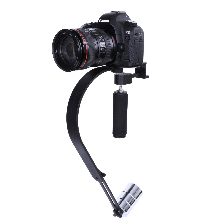 Iluminacion Para Camara Sistema del estabilizador de vídeo OPTEKA SteadyVid 200EX PRO para CANON EOS REBEL T5I T4I SL1 1100D 1000D T3 T3i 60D 600 D 650 7 D 350 D XS soporta hasta 5 libras + Opteka en Veo y Compro