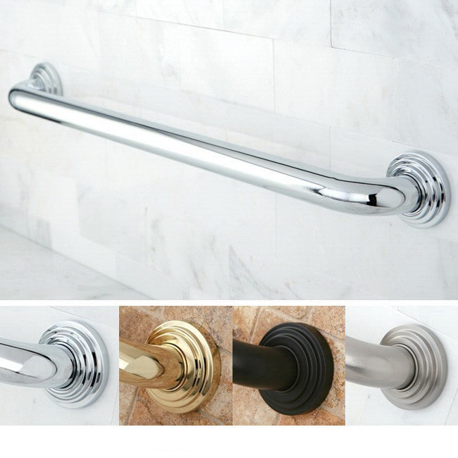 Kingston Brass Milano 24-inch 3-layer Flange Grab Bar