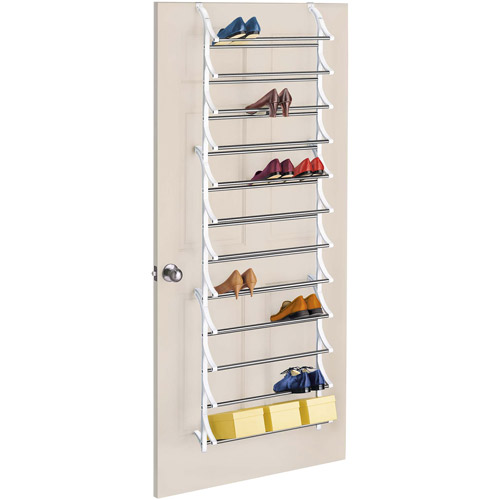 Lynk 36-Pair Over-The-Door Shoe Rack, Chrome