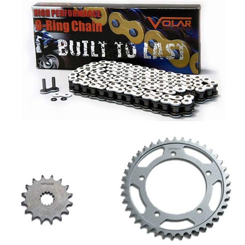 1990-1992 Suzuki GSXR 750 O-Ring Chain and Sprocket Kit - White