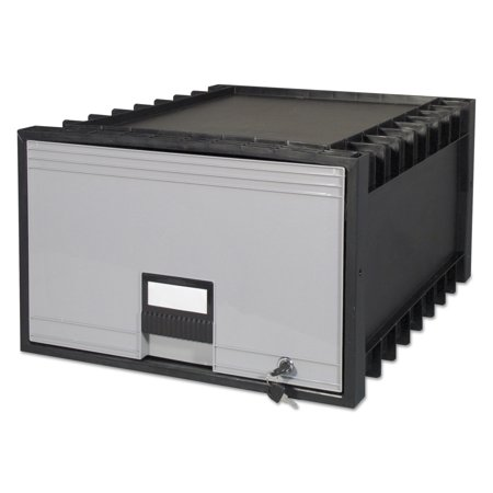 Storex Archive Drawer For Legal Files Storage Box  24  Depth  Black Gray