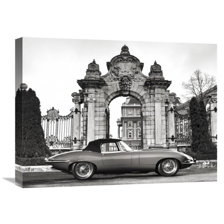 Global Gallery Gasoline Images \'Vintage sports-car 1\' Canvas Wall ...