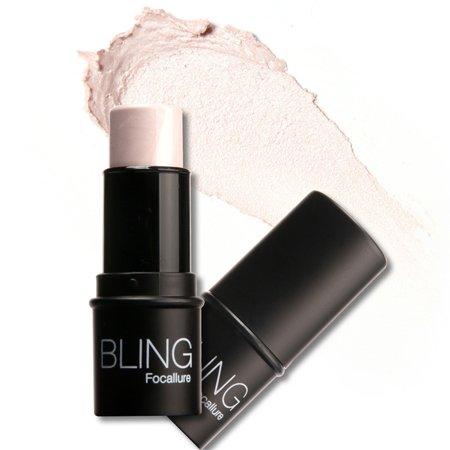Highlighter Stick Shimmer Powder Cream Shadow Highlighting Waterproof Face Eyes Makeup Cosmetics Silver - White Face Black Eyes Makeup Halloween