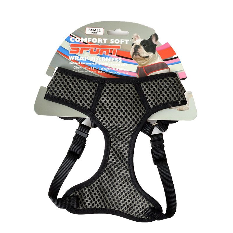 Coastal Pet Sport Wrap Adjustable Harness - Black Small (Girth Size 19-23)
