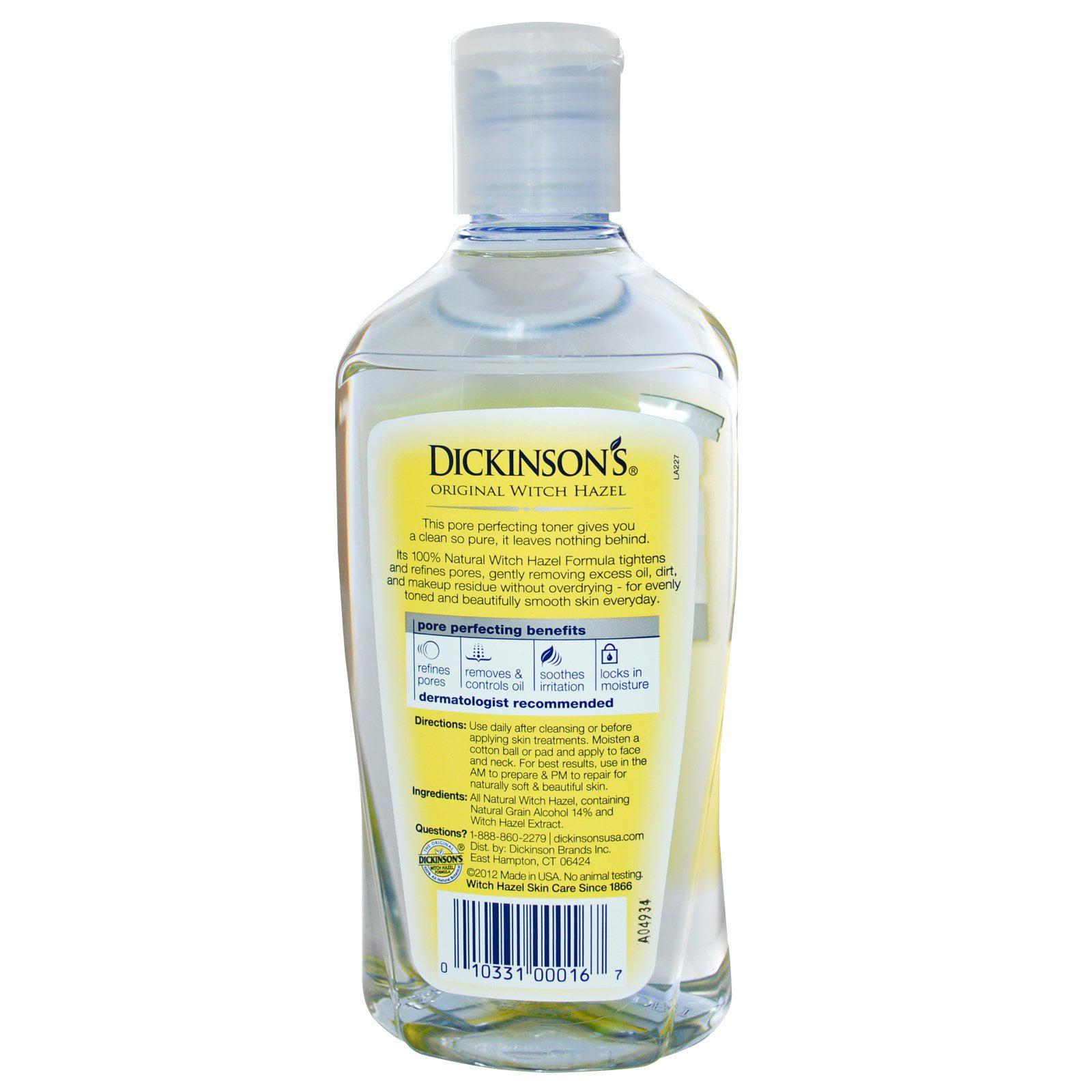 Dickinsons Witch Hazel Pore Perfecting Toner, 8 oz iS Clinical White Lightening Serum 0.5 fl oz / 15 ml