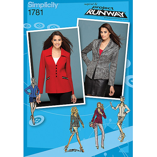 Simplicity Pattern Misses' Jackets, (6, 8, 10, 12, 14)