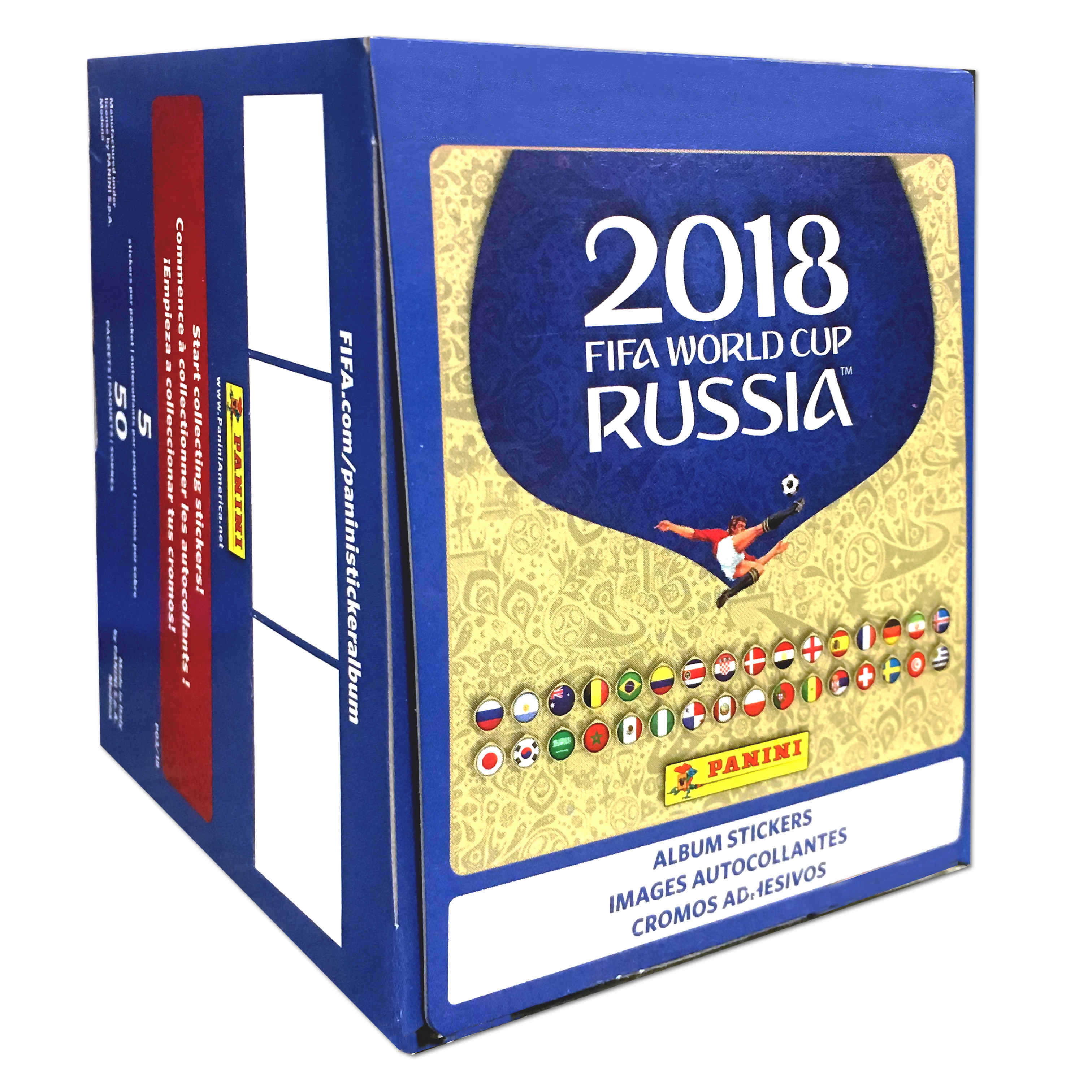 18 Panini World Cup Soccer Sticker Pack Box 50CT Trading Cards