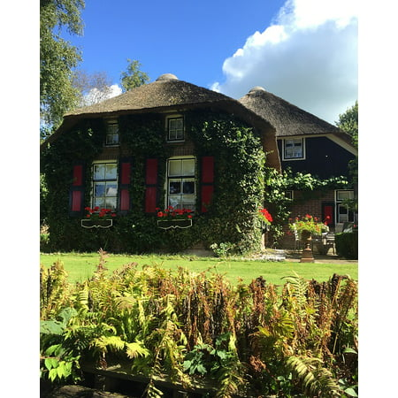 LAMINATED POSTER Holland Chocolate Box Cottage Netherlands Giethoorn Poster Print 24 x - Chocolate Box Cottage