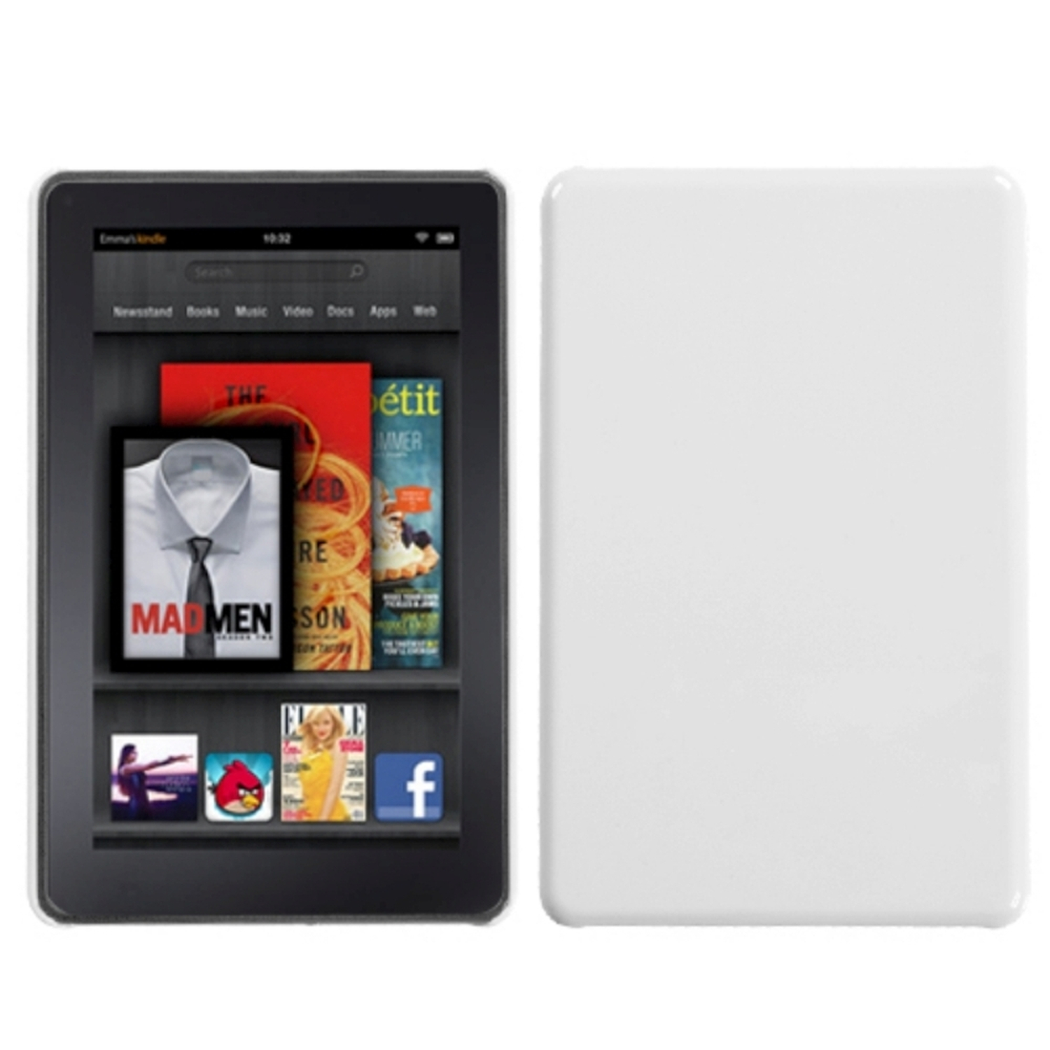 Insten Natural Ivory White Back Protector Case Cover For KINDLE fire