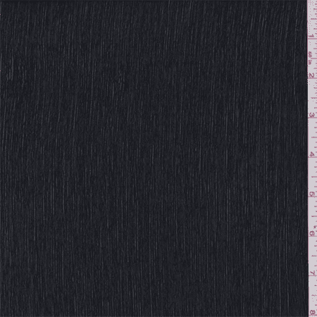 Black Polyester Crinkled Chiffon, Fabric Sold By the Yard (Black Crinkle Paper)