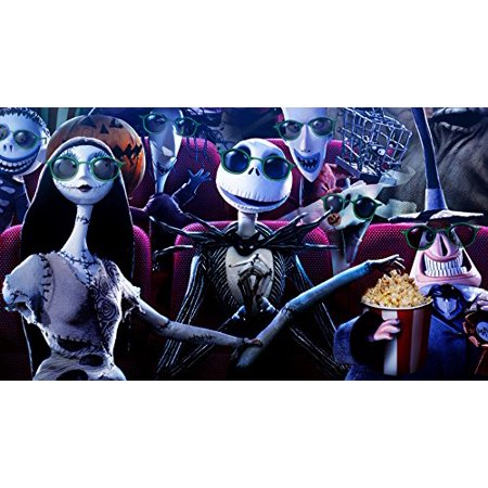 Nightmare Before Christmas Movie Edible Cake Topper Frosting 1/4 Sheet Birthday Party (Topper Movies)