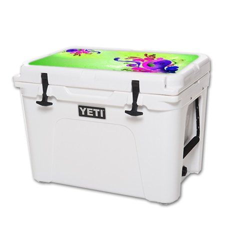 Lid Pastel (MightySkins Protective Vinyl Skin Decal for YETI Tundra 50 qt Cooler Lid wrap cover sticker skins Pastel Flourish)