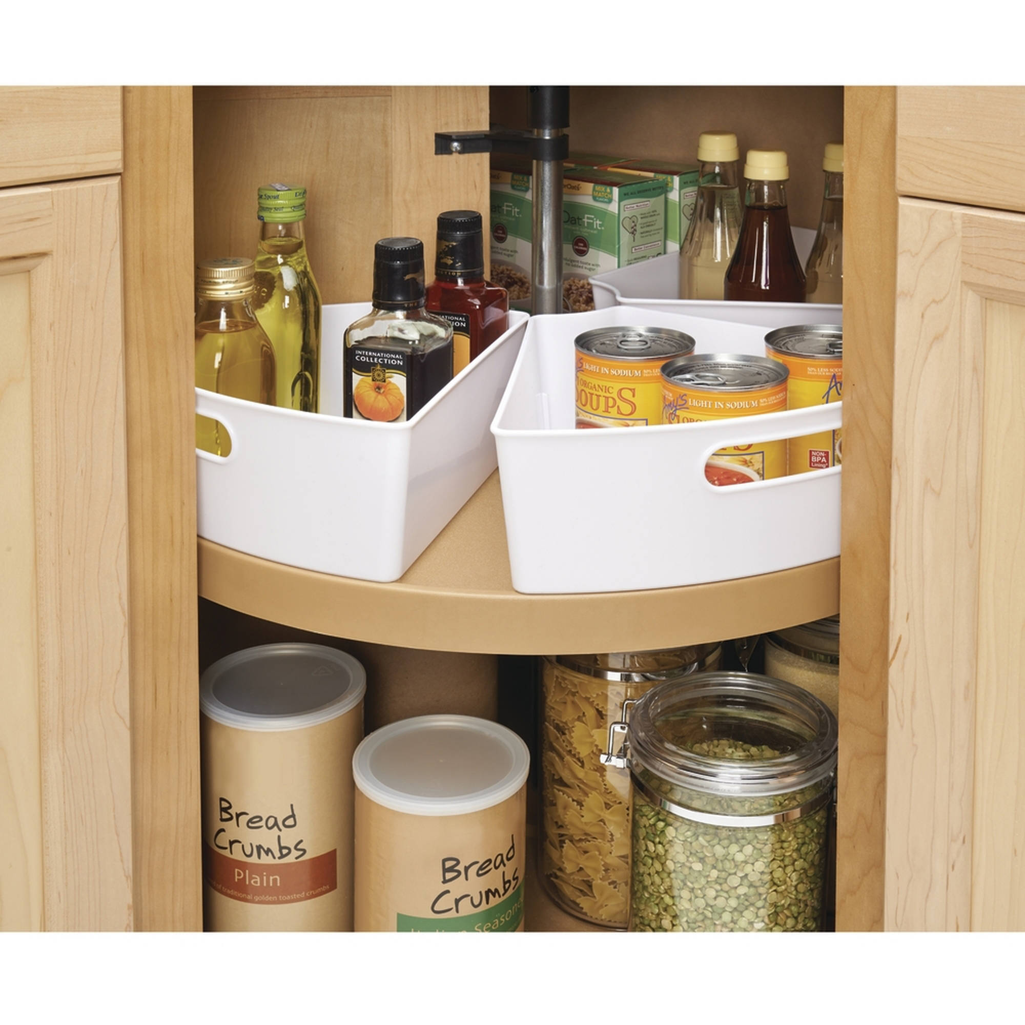 lazy susan cabinet organizers kitchen interdesign lazy susan kitchen cabinet organizer storage 22546