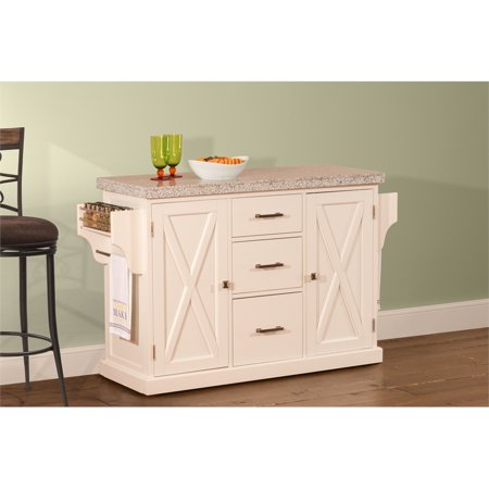 Hillsdale Furniture Brigham Solid Wood Kitchen Island, Multiple Finishes  and Counter Tops