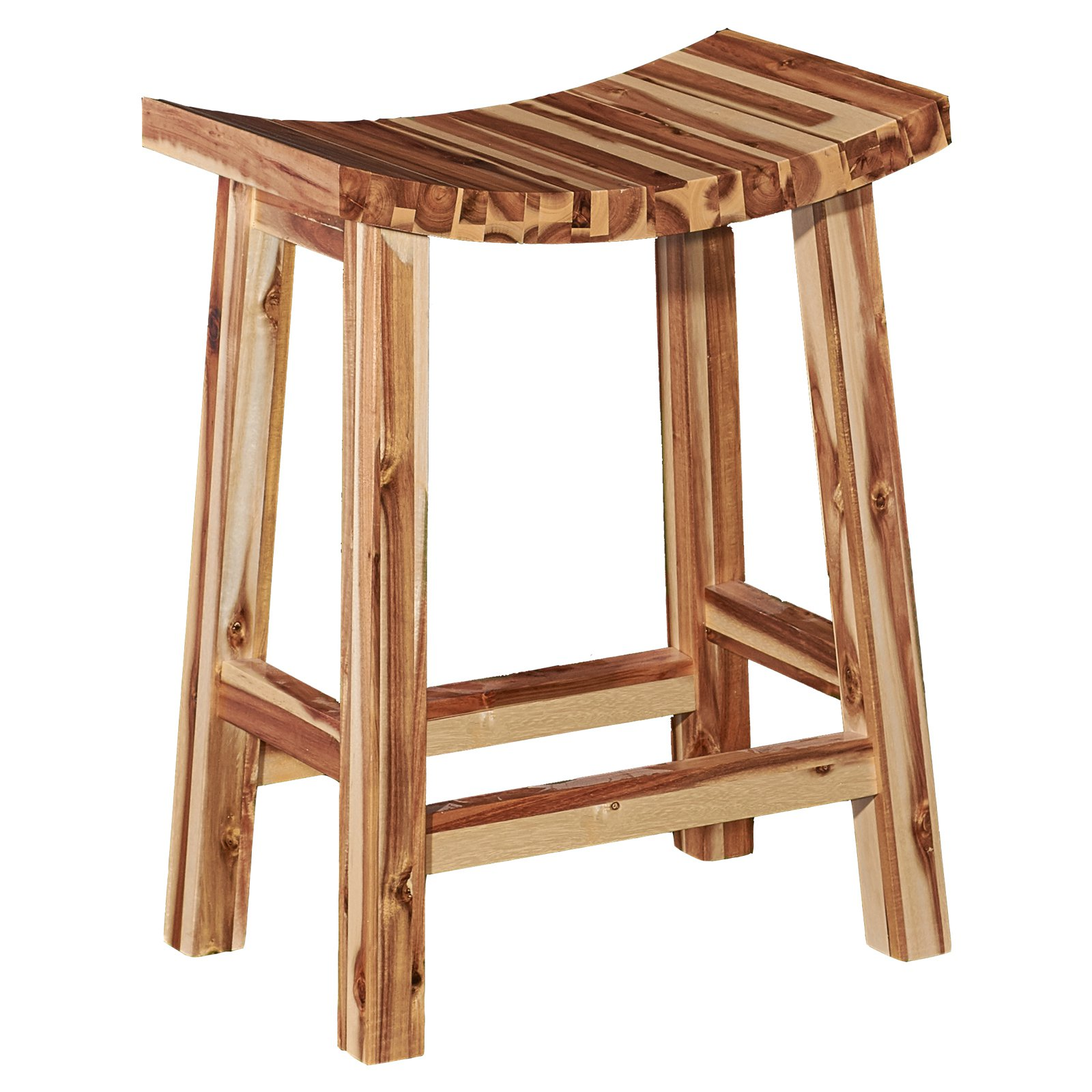 Powell 30 in. Dale Saddle Bar Stool by Powell Furniture