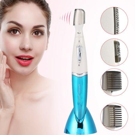 KEMEI Women Electric Eyebrow Trimmer Facial Hair Remover ...