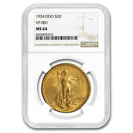 1924 $20 Saint-Gaudens Gold Double Eagle MS-64 NGC (DDO VP-001)