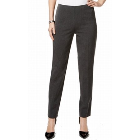 Tommy Hilfiger Charcoal Womens Flat-Front Dress Pants