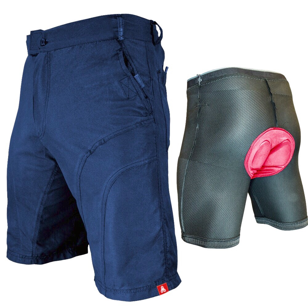 Gel Men 3D Padded Cycling Underwear Bicycle Underpants Lightweight Bike Shorts E