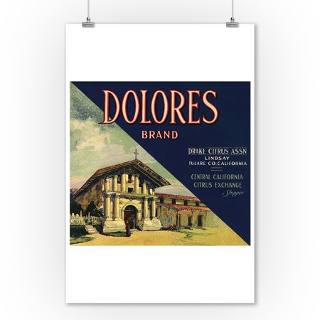 Dolores Brand - Lindsay, California - Citrus Crate Label (9x12 Art Print, Wall Decor Travel -