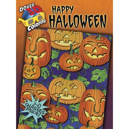 Happy Halloween Coloring Pages To Print (3-D Coloring Book: Happy)