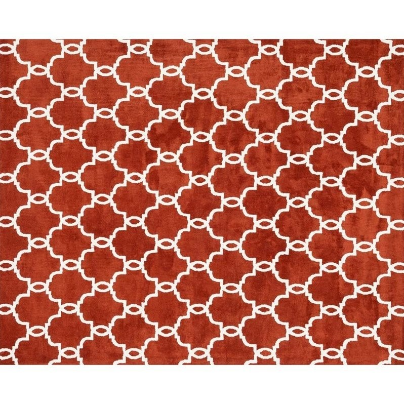 "Loloi Charlotte 7'6"" x 9'6"" Power Loomed Rug in Rust"