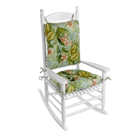 Klear Vu Outdoor 2 Piece Porch Rocking Chair Cushion Set