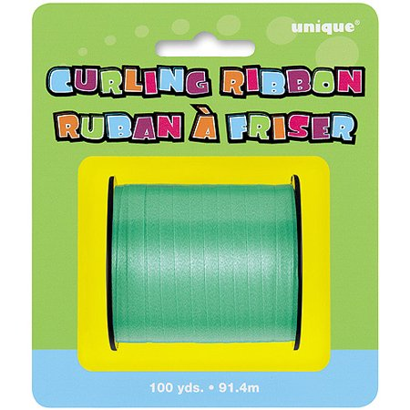 Curling Ribbon, Green, 100 yd, 1ct - Green Ribbon Tattoo