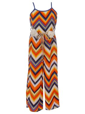 40480a15053 Product Image Big Girl Girls Jumpsuits Multi Pattern Romper Casual Summer  Birthday Outfit Orange 8 JKS 2127 BNY