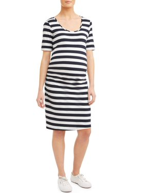 5d0db6b6ee Product Image Maternity Stripe Short Sleeve Knit Dress - Available in Plus  Sizes
