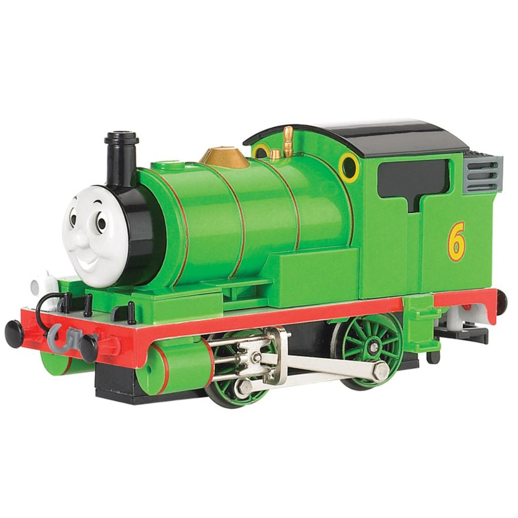 Bachmann Trains Thomas and Friends Percy The Small Engine Locomotive with Moving Eyes, HO Scale Train