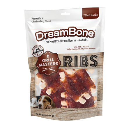 DreamBone Grill Masters Ribs Rawhide-Free Dog Chews,