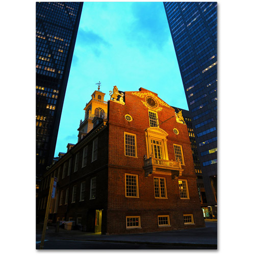 "Trademark Fine Art ""Boston"" Canvas Art by CATeyes"