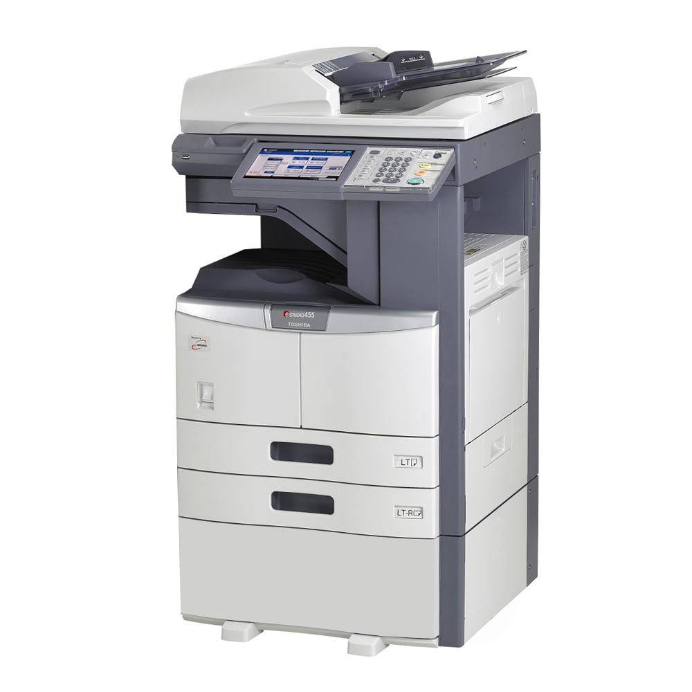 Refurbished Toshiba E-Studio 255 A3 Monochrome Laser Multifunction Copier - 25ppm, Copy, Print, Scan, Auto Duplex, Network-Ready, 2400 x 600 dpi, 2 Trays, Cabinet