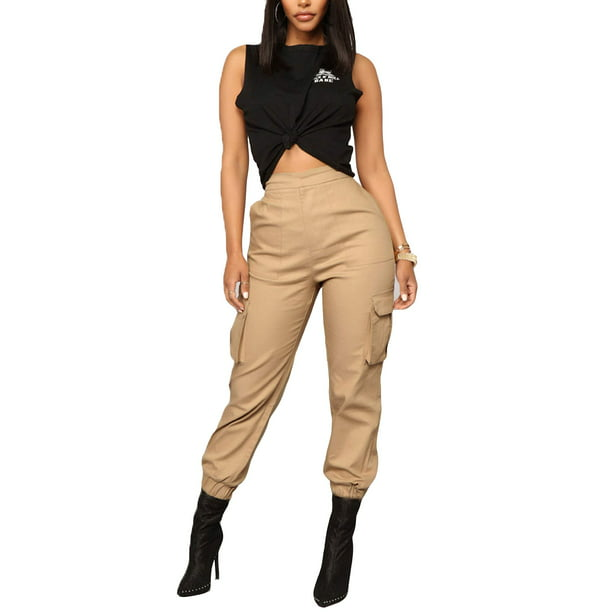 Mlpeerw Mlpeerw Cargo Trousers For Women Cotton Pants Punk Loose Long Sports Walmart Com Walmart Com