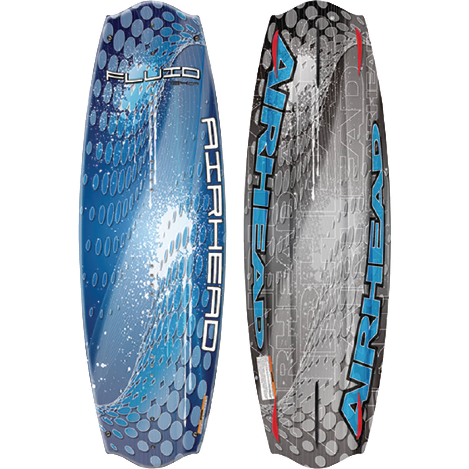 Airhead AWH-4020 Fluid Wakeboard for Riders 150 lbs and up, Venom Bindings Size 9 to 12 by Kwik Tek
