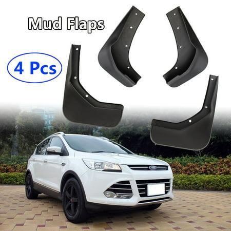 4pcs Front + Rear Mud Flaps Splash Guards Mudguards Fender For Ford ESCAPE KUGA For Escape Kuga 13/14/15