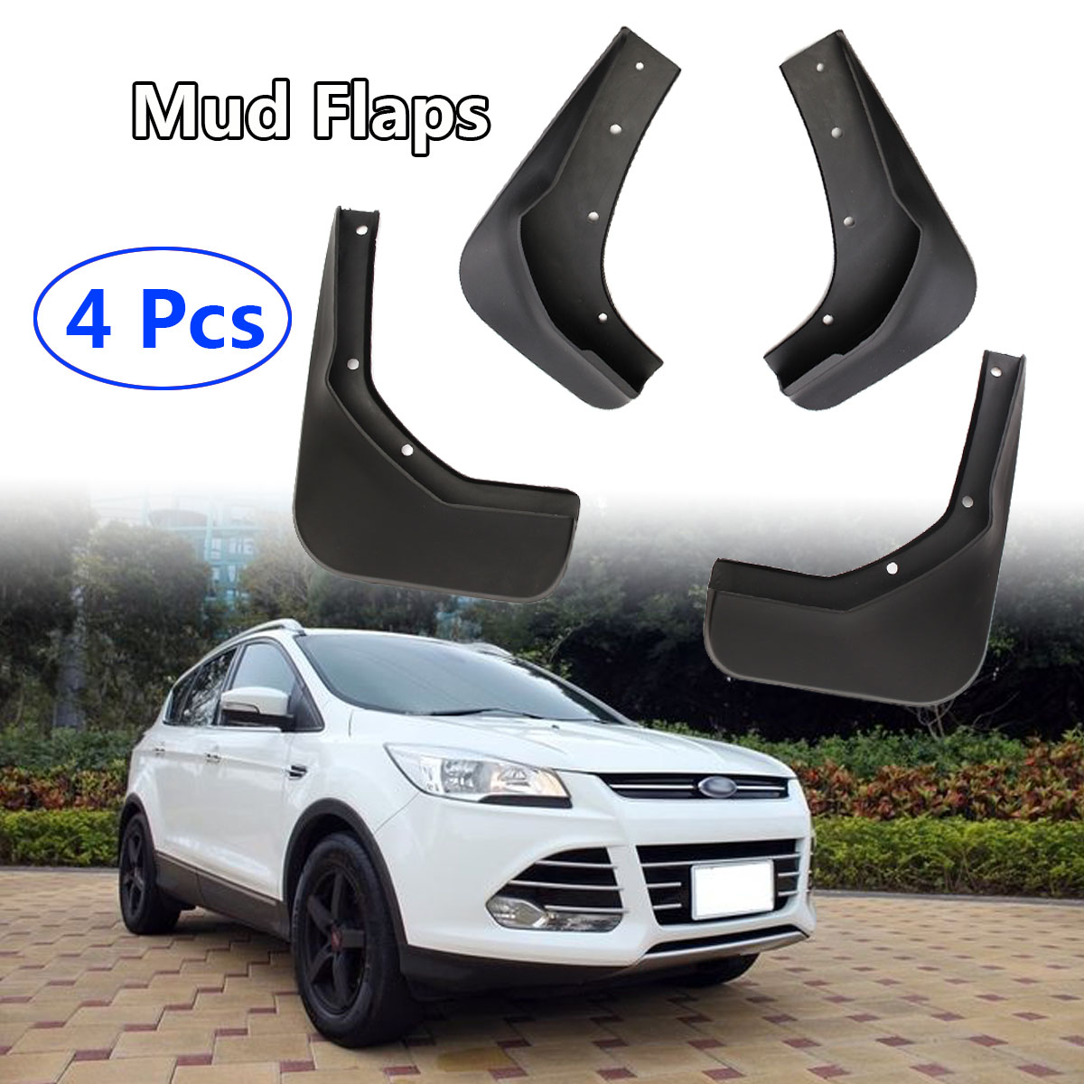 4pcs Front + Rear Mud Flaps Splash Guards Mudguards Fender For Ford ESCAPE KUGA For Escape Kuga 2013 2014 2015