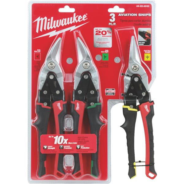 Milwaukee 3-Piece Aviation Snip Set