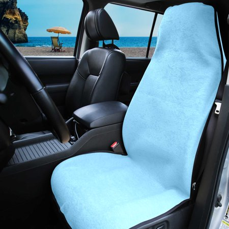 FH Group Fast Absorbent Multi-Functional Beach & Post Workout Light Blue Towel Car Seat Cover, 1 - Seat Covers Post