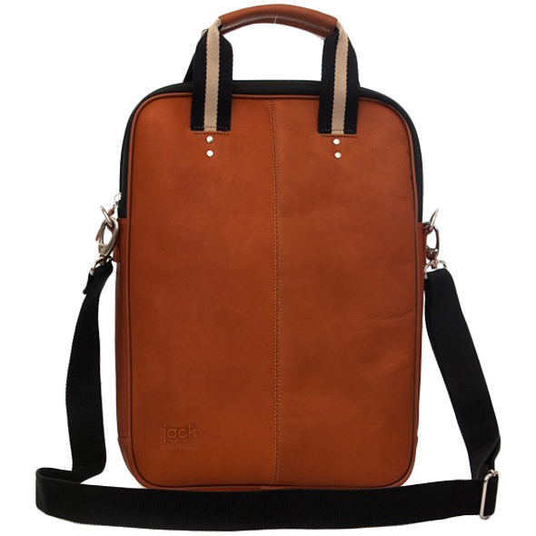 "Jill-e Jack Lenox 15"" Leather Laptop Portfolio (Tan)"