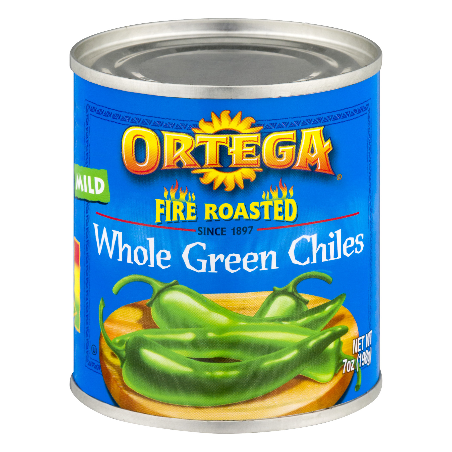Ortega Fire Roasted Whole Mild Green Chiles, 7 Oz
