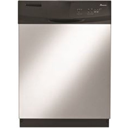 Amana Built In 24 In  Tall Dishwasher With Electronic Front Controls  Stainless Steel  3 Cycles