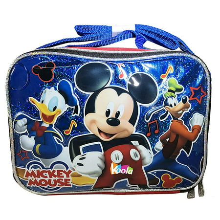 Disney Mickey Mouse Insulated School Lunch Bag with Shoulder Strap