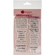 """Woodware Clear Stamps 3.5""""X5.5""""-Christmas Cheer"""