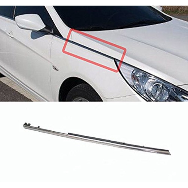 Hyundai Motors OEM Genuine 877723S001 Front Right Fender Molding Trim 1pc For 11 12 13 14 Hyundai i45 : YF Sonata